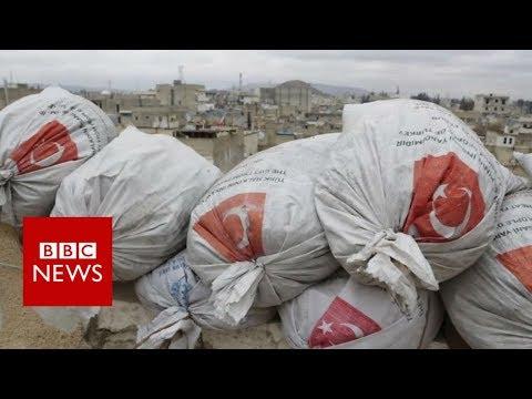 Inside rebel-held Syrian town near Afrin frontline - BBC News