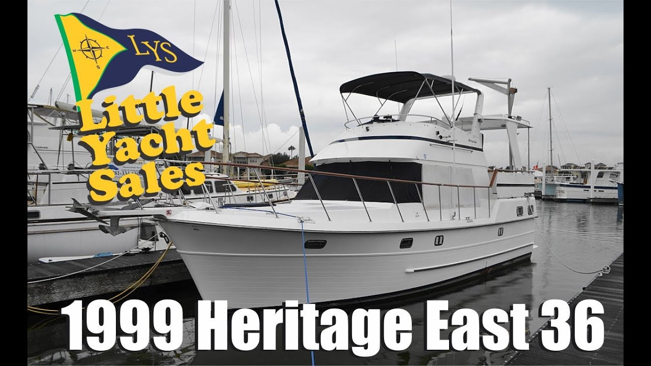 SOLD!!! 1999 Heritage East Trawler Yacht for sale at Little Yacht Sales,  kemah Texas