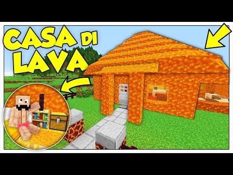 COME VIVERE DENTRO UNA CASA DI VERA LAVA! - Minecraft ITA