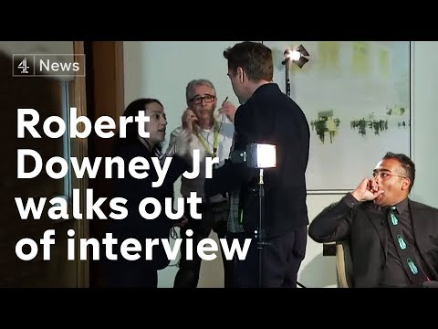Robert Downey Jr full interview: star walks out when asked about past