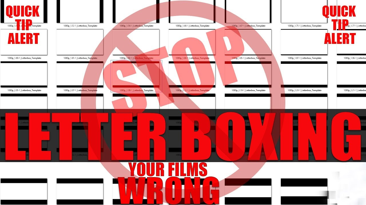 how to letter box your films the correct way in adobe premiere using