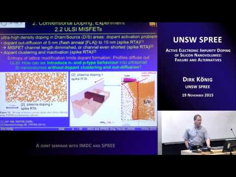 UNSW SPREE 201511-19 Dirk König - Active electronic impurity doping of silicon nanovolumes