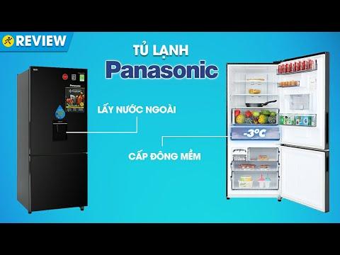 Tủ lạnh Panasonic 368L: cấp đông mềm và lấy nước ngoài kháng khuẩn (NR-BX410WKVN) • Điện máy XANH