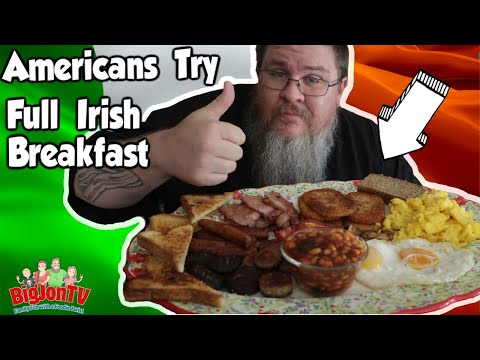 Americans Try a Full Irish Breakfast || Foreign Food Friday