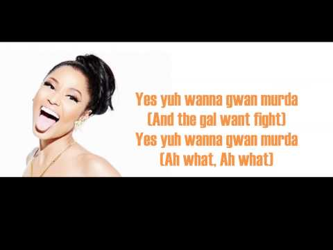 Nicki Minaj - Murda Murda (Lyrics)