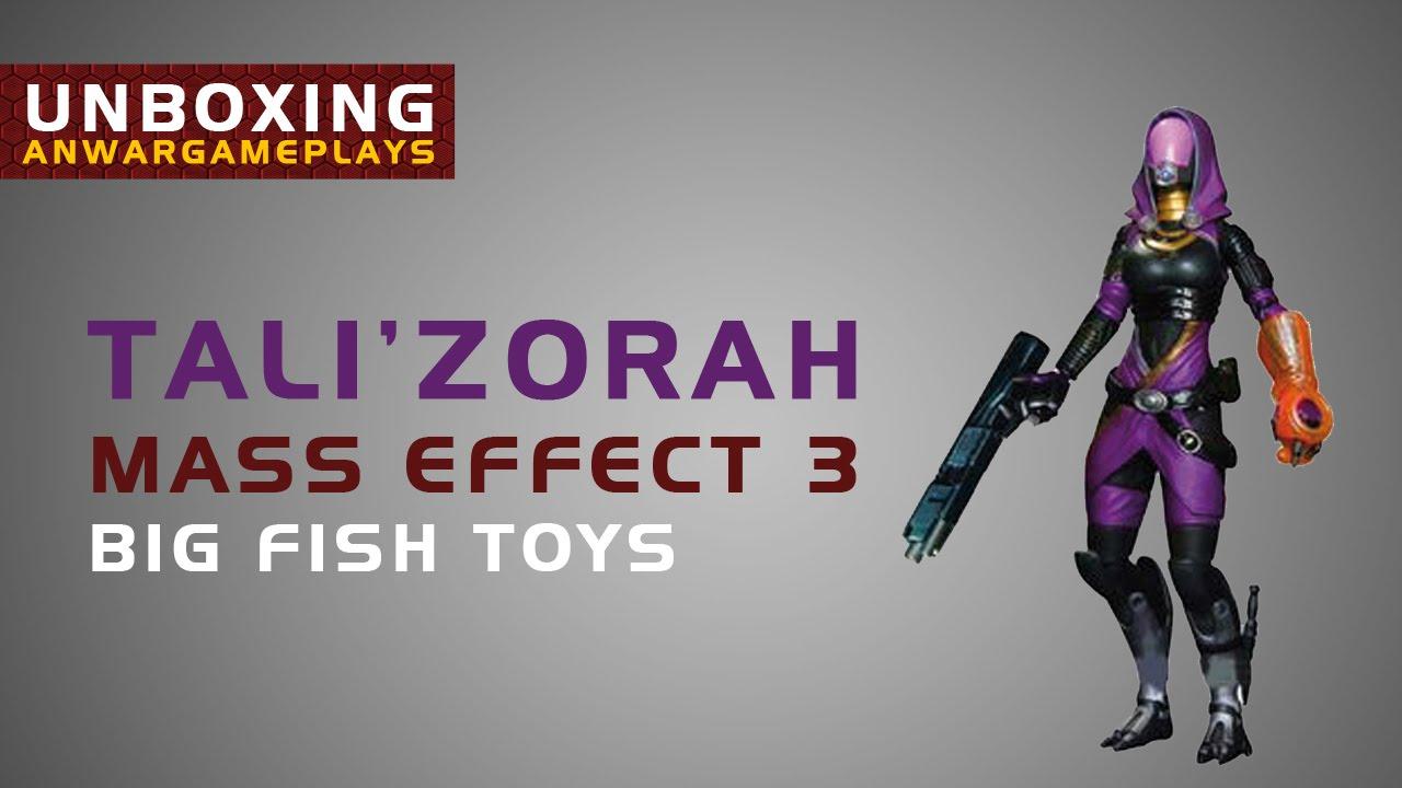 unboxing de figura de tali zorah mass effect 3 de big fish toys