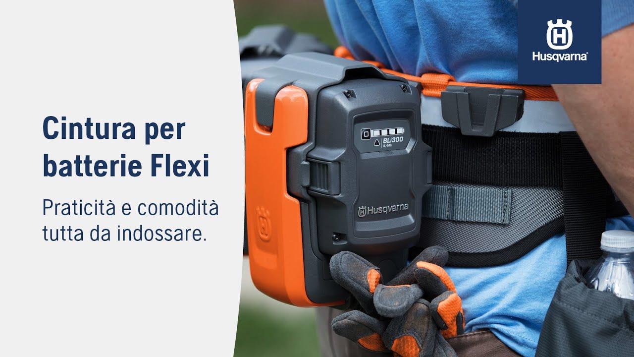Cintura per batterie Husqvarna Flexi: pratica produttività da indossare