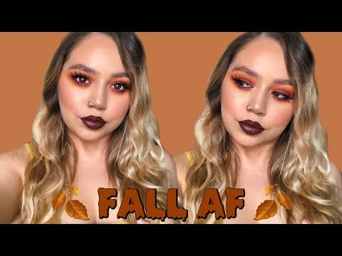 FALL AF MAKEUP TUTORIAL | RUSTY TONES FT. SO JADED PALETTE | Makeupbytreenz thumbnail
