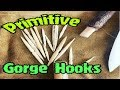 Catching Fish With A Primitive Survival Gorge Hook and Cane Pole