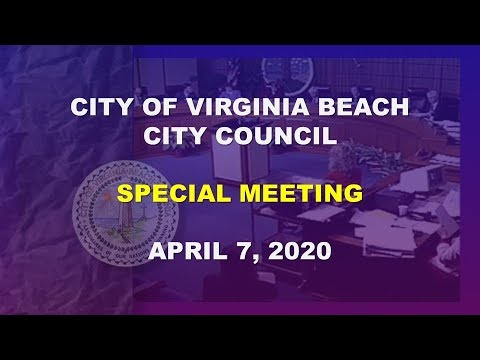 City Council Special Meeting - 04/07/2020