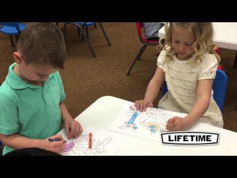 80553   4Pk Blue Kids Chairs & 1 Kids Table HD
