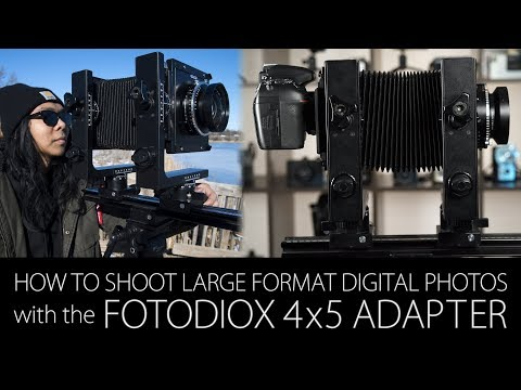 How To Shoot Large Format Digital Photos With The Fotodiox 4x5 Shift/Stitch Adapter