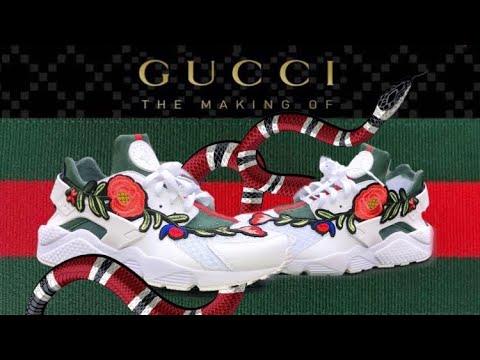 cd113aa08e767 Gucci Huarache Custom - YouTube