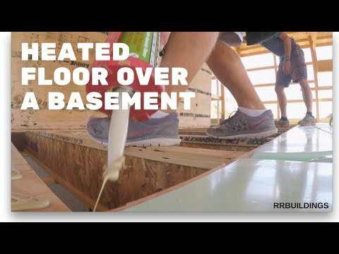 how to install radiant heat over basement
