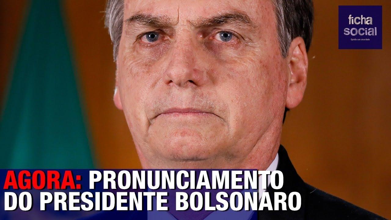 AO VIVO: PRONUNCIAMENTO DE BOLSONARO - GOVERNADORES, MINISTRO DA ...