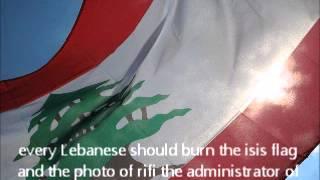 Burning ISIS flag and Rifi Photo.
