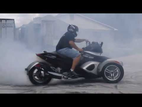 ULTIMATE CAN AM SPYDER BURN OUT!!