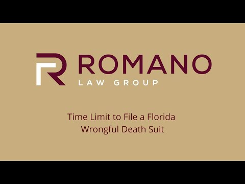 Time Limit to File a Florida Wrongful Death Suit - Romano Law Group
