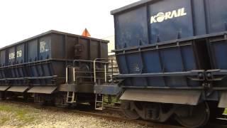남부역으로 향해가는 석탄화물열차