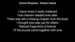 Chevel Shepherd - Broken Hearts Lyrics ( The Voice US winner original song ) Video