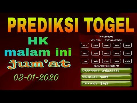 Prediksi Togel HK Jum\u0026#39;at 03\/01\/2020   Rumus Harian Togel ...