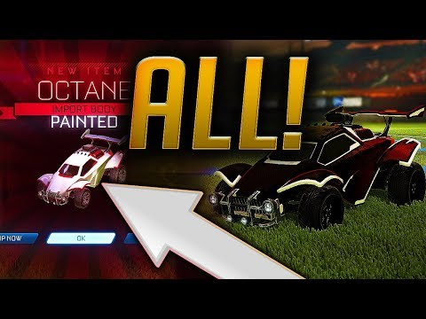 ALL PAINTED Octane CARS! RARE *NEW* Imports! (Rocket League Trading)
