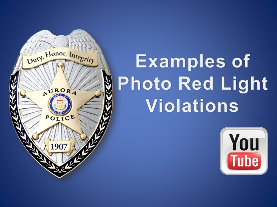 Examples Of Red Light Violations Caught On Photo Red Light Cameras