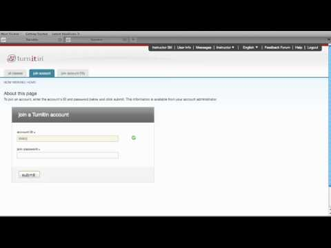 Joining a Turnitin Account - Instructor Training