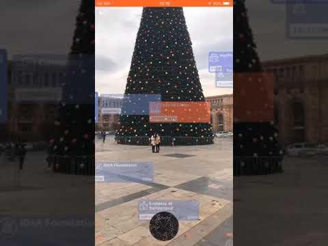 Virtlo - Augmented Reality iPhone Offline Travel app in Yerevan, Armenia