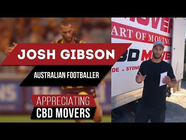 Back-Pocket Defender Josh Gibson Australian Footballer Appreciating CBD Movers Australia