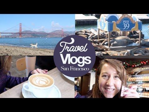 San Francisco Vlog #1! Travel, Veggie Food, Coffee & Ghirardelli!