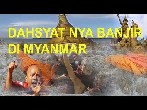 KOTA MYANMAR TERKENA BENCANA AKIBAT PERBUATAN NYA