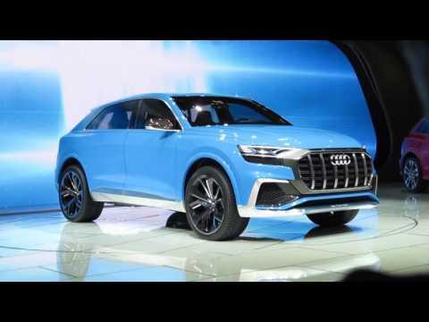 BOMBAY BLUE Audi Q8 Concept Reveal -- Best car color on the show floor! -- WOW