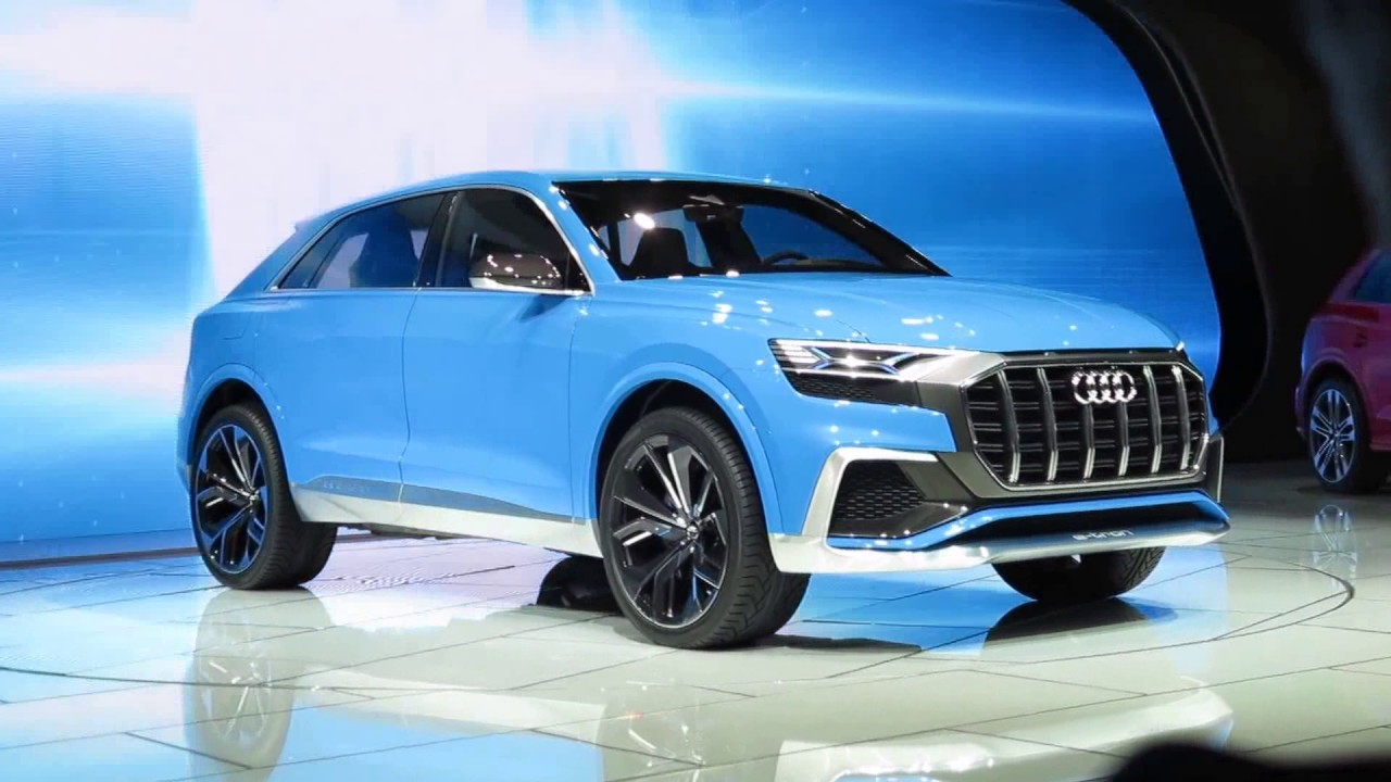 BOMBAY BLUE Audi Q Concept Reveal Best Car Color On The Show - Audi car colors
