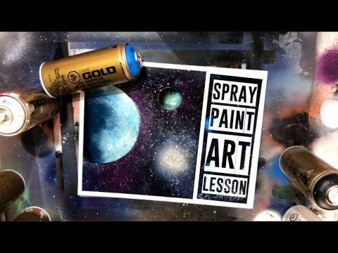 Outer Space Nebula Spray Paint Art Tutorial by Aerosotle thumbnail