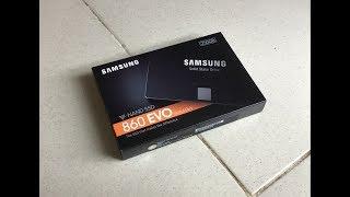 Mở Hộp Ổ cứng SSD Samsung 860 Evo 2.5-Inch SATA III - 250GB Chính hãng Giá cực rẻ 2019