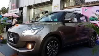 2018 Maruti Suzuki Swift Top End Exterior and Interior Metallic Magma Grey 1080p Video