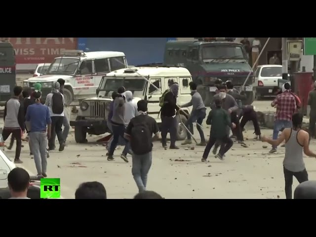 'We want freedom': Anti-India protesters clash with police in Kashmir