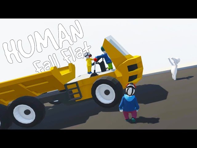 POWER OVERLOADS and HAULING COAL! - Human Fall Flat Multiplayer Gameplay