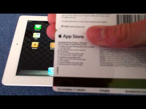 How to Put an App Store / iTunes Gift Card on Your Device : iPad / iPhone / iPod Touch
