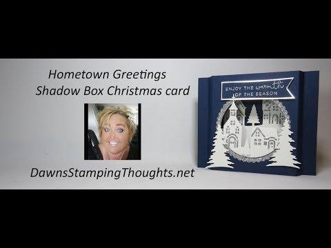 Hometown Greetings Shadow Box Christmas card