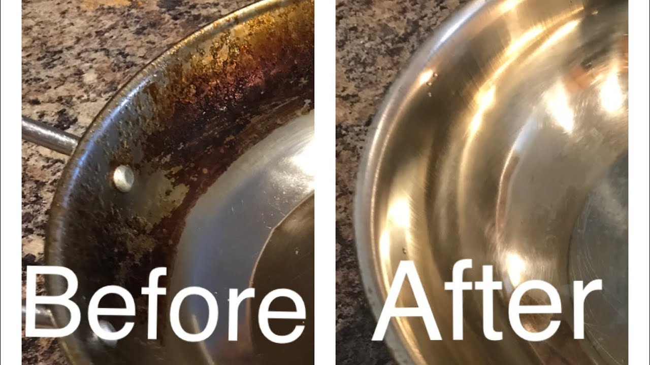 Remove Burnt Oil Stains From Pots And