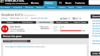 Resident Evil 6 release gets 0.1% Metacritic user score