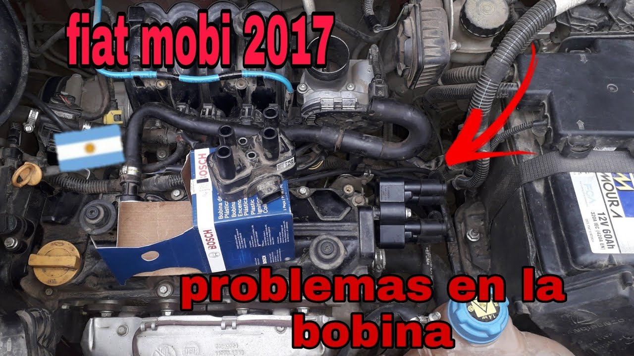 fiat mobi .problemas con la bobina 😱🏁💥💥