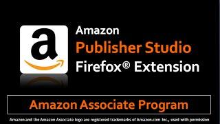 Amazon Publisher Studio Firefox Extension