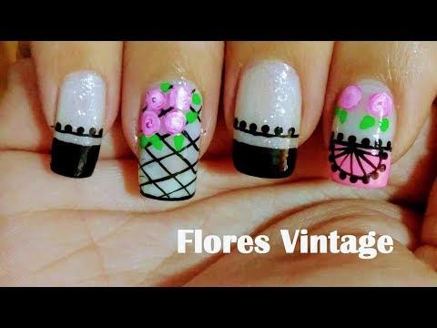 Decoración De Uñas Flores Vintage Flowers Nail Art