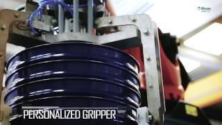 Video: Robot Paletizador Bidones / tambores metálicos con sistema de apilado previo