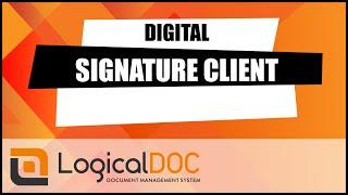 LogicalDOC Digital Signature Client