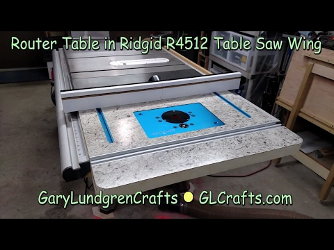 RouterTable in Home Depot Ridgid R4512 Tablesaw Ep.2017-07