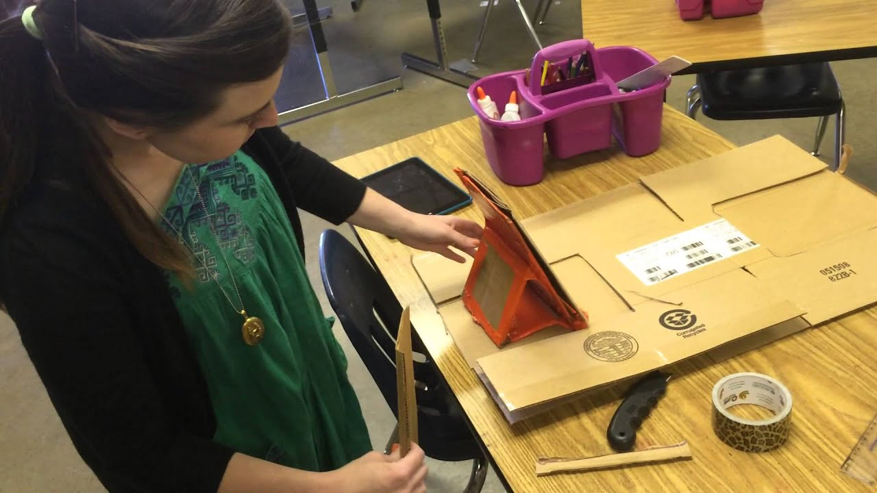 create an ipad stand for stopmotion from cardboard youtube